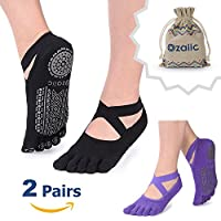 Ozaiic Femmes yoga Chaussettes, Chaussettes de danse et peut être utilisée pour barre, yoga, pilates, fitness antidérapant Skid Chaussettes