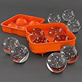 Home Cube Whiskey Rounders 4 Large Ice Ball Maker (2 Inch)