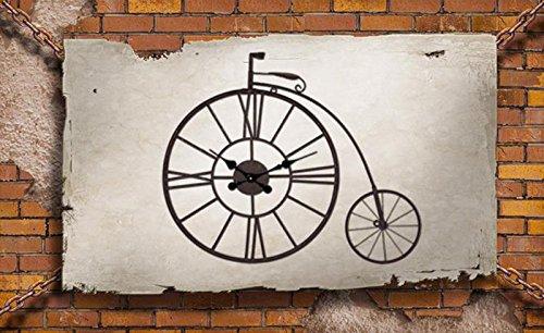 Preisvergleich Produktbild Mute Clock Hang Uhren Wanddiagramme Creative Fashion Bar Wandbehänge Retro Nostalgic Iron Crafts Pure Handmade 76x66cm ( Farbe : A )