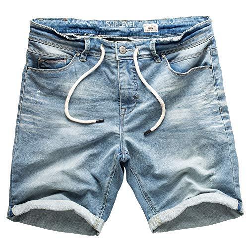 Sublevel Hombre Jogg Pantalones Cortos Shorts de Jeans Bermudas Denim Pantalón Chándal Cargo JoggJeans...