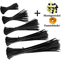 Hanke Ring Cable Tie Set 500Pieces)–100/150/200/200/250mm (Pack of 100)