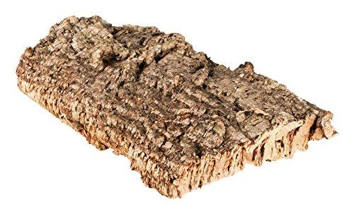 Korkrinde Korkstück, 30 x 15 cm (Naturkork, Zierkork) - ideal für Haustiere (Nager + Vögel) oder Basteln & Hobby (Modellbau), unbehandelte Rinde von der Korkeiche, flach -