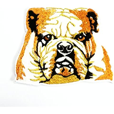 Bulldog Patch Embroidered Iron-on Dog Applique English Canine Souvenir By Sonata Shop by Sonata