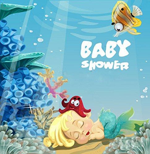 Baby Dusche Hintergrund Little Mermaid, unter dem Meer bedruckt Cartoon Fotografie Hintergründe Digital Foto Studio Bild Princess Shoot Prop 6x 6ft