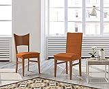 Zebra Textil Elastische Stuhl-Husse mit Rückenlehne - Beta, Farbe Orange, Größe Standard, (mehrere Farben verfügbar)