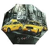 Y Not Super Mini City New York Grau-Gelb 55544 Damen Regenschirm Taschenschirm Schirm Schirme Damenschirm