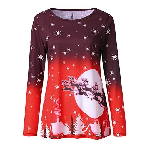(Bluelucon Damen Pullover Winter Langarm Irregulär Oberteile mit Knop Sweatshirt)