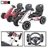 Actionbikes Motors Miweba Gokart Abarth Lizenziert Kinder Pedal Auto Tretauto Kinderfahrzeug Cart Eva Reifen in vielen Farben (Weiß)
