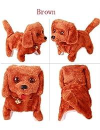 Reixus (TM) Jouets Dog Pet Belle ¨¦lectronique ¨¤ piles Sounding Chien en peluche Marche Jouet animal pour Kid meilleur cadeau