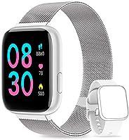 NAIXUES Smartwatch Orologio Fitness Sportivo Donna Uomo Impermeabile Smart Watch Cardiofrequenzimetro Contapas
