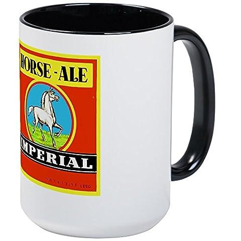 CafePress - Belgium Beer Label 6 - Coffee Mug, Large 15 oz. White Coffee Cup