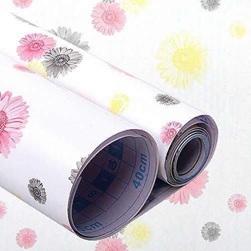 Sunfire Schubladen-Papier selbstklebend herausnehmbar Kontakt-Papier Blumenmuster 43,2x 198,1cm
