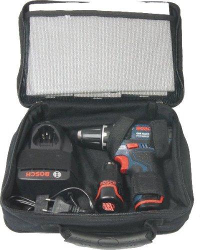 Preisvergleich Produktbild Bosch Akkuschrauber GSR 10,8-2-LI mit 2 Akkus 1,3 Ah, 3 x Zubehör-Set & Softbag