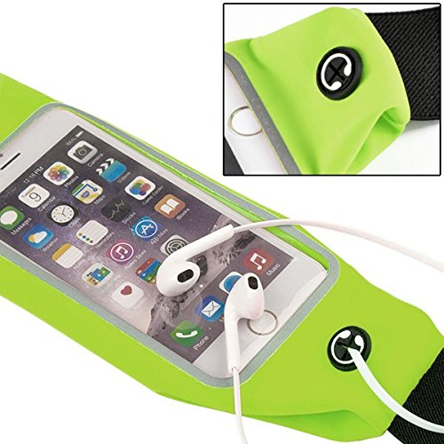 Advent Basics™ Adjustable waterproof Mobile Waist Pouch Bag Case Cover with Transparent Clear View Touch Screen with headphone jack slot Compatible With IPhone 7 | 6 | 6S | 5S | SE | 5C | 4S | 4 Samsung Galaxy S4 S5 Mini S6 Size 4.7 to 5.5 inch Phone (Yellow)  available at amazon for Rs.399