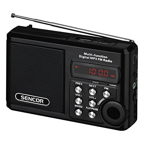 Sencor SRD 215 B Radio Portable Analogique Noir - Radios Portables (Analogique, FM, 88-108 MHz, 2 W, Noir, 230 V) par  Sencor