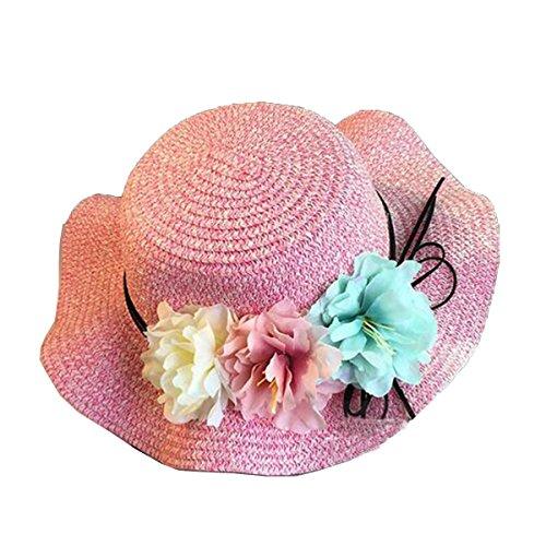 Mai Dou Les Femmes Les Enfants La Famille Les Fleurs Le Soleil Plage Chapeau Pink1