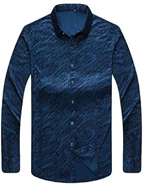 Camisa De Hombre Camisa De Impresión Informal De Negocios Camisa De Manga Larga De Invierno Cálido