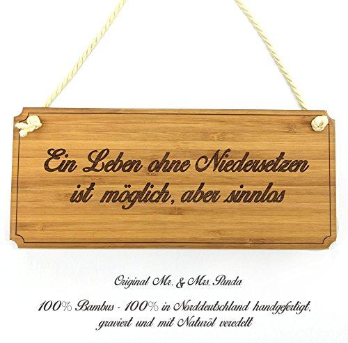 Mr. & Mrs. Panda Türschild Stadt Niedersetzen Classic Schild - Gravur,Graviert Türschild,Tür Schild,Schild, Fan, Fanartikel, Souvenir, Andenken, Fanclub, Stadt, Mitbringsel