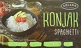 Solano Konjaknudel im 10er-Set, Konjak-Spaghetti aus der Konjakwurzel hergestellt, Low Carb Pasta, die Shirataki Nudeln sind vegan, fettfrei, glutenfrei, kalorienarm und eignen sich gut für Diäten