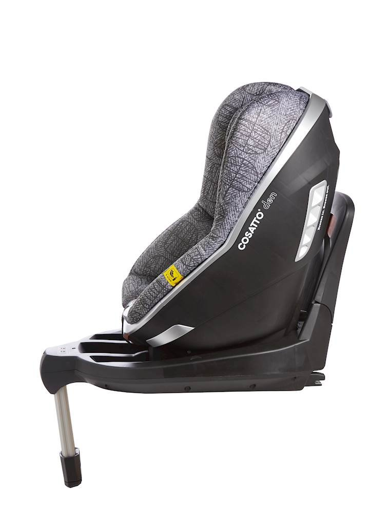 Cosatto Den i-Size Car Seat, Dawn Chorus, Birth to 18 kg Cosatto Rearward facing from birth to 15 months (83 cm child height) for extended protection; then forward facing from 71 cm child height up to 95 cm (approximately 3 years) Den has a built in electronic safe-fitting warning system, with a light and sound feature to prevent incorrect seat fitting One-handed simultaneous harness and headrest adjuster, allows to for easy adjustments without needing to rethread the harness in order to adjust the headrest 5