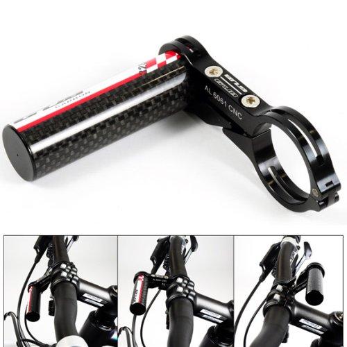 Vakind GUB G-329 Kohlenstoff Fahrrad Lenkerhalterung Lampe Haltewinkel Halter (Schwarz) -