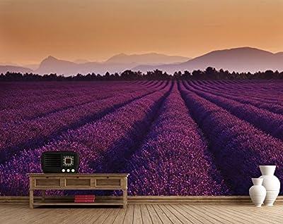 1 Wall W4PL-LAVENDER-001 Lavendelfelder Wall Mural/Fototapete von 1Wall bei TapetenShop