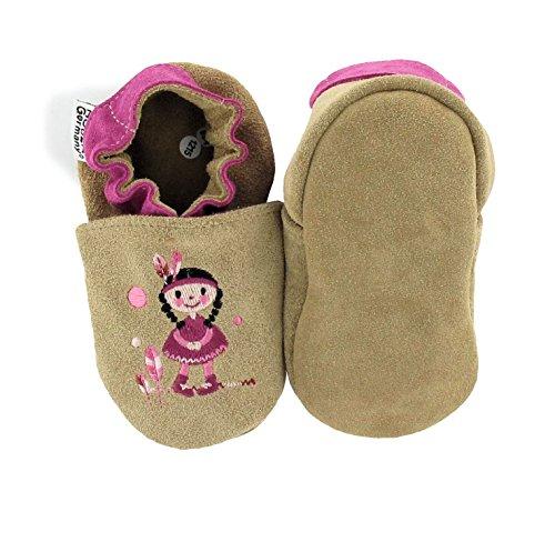 HOBEA-Germany , Chaussures souples pour bébé (fille) cars on tour 16/17 (0-6 Mon) Indianermädchen