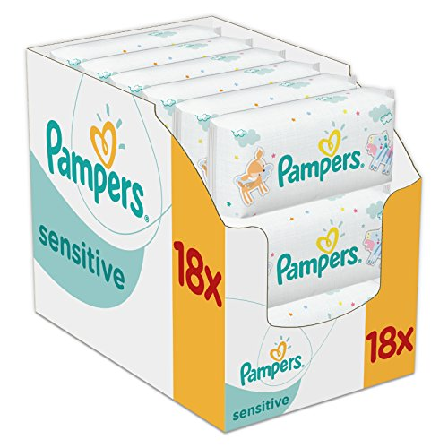 Pampers Sensitive Baby Wipes – Pack of 18 (Total 1008 Wipes) 510JfEq3xCL