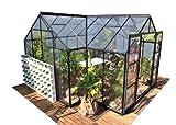 Serre Orangerie 13000 Noir + Verre trempe