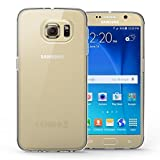 Yousave Accessories Samsung Galaxy S6 Hülle Klare Ultradünne Silikon Gel Schutzhülle
