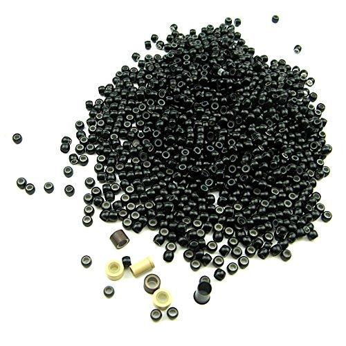 1000 Stück pro Los Silikon-Nanoperlen, Micro Nano Ring mit Silikon-Liner für Nano-Spitze-Haar Hot (Verkauf Haar)
