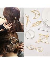 cuhair (TM) 7pcs métal punk Cercles accessoires pour cheveux barettes de pince à cheveux broches accessoires pour cheveux pince à cheveux