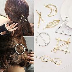 cuhair (TM) 7pc Einzigartige Individualität Hot Metall Haarspange Pin Design für Damen Mädchen Zubehör