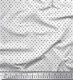Soimoi Weiß Samt Stoff geometrisch kleines Motiv