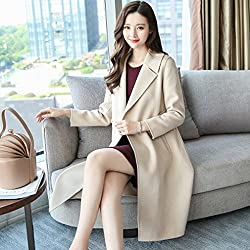 MO Fashion Woolen Child in the Long Section of Female Models Coat Autumn and Winter Slim Was Temperament Coat from MO