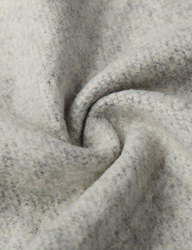EA Selection Winter Damen Hoodie Sweatshirt Sterne Muster Kapuzenpullover Grau-Weihnachtenbaum