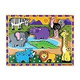Melissa & Doug Holzpuzzle mit klobigen Teilen - Safaritiere