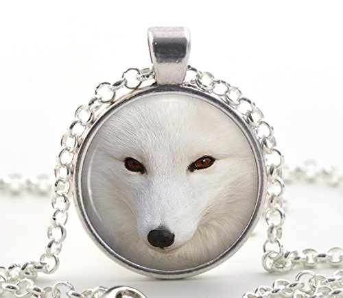 silver-artic-polar-fox-necklace-pendant-picture-jewelry-white-animal-gifts-for-women