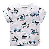 LEXUPE Baby Kleidung Mädchen, Kleinkind Kinder Jungen Kleidung Kurzarm Cartoon Muster Tops T Shirt Bluse