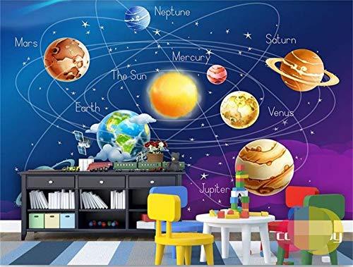 3d tapete blau kosmos planet Erde und Mond benutzerdefinierte kinderzimmer wandmalerei sofa TV hintergrundbild, 200x140cm