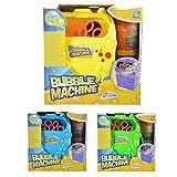 Seifenblasenmaschine BUBBLE Seifenblasen Spielzeug - inkl. 117ml Blasenlösung (Gelb)