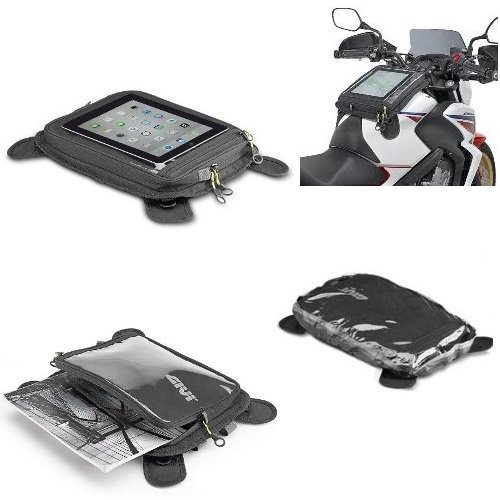 Tür Tablet Tanktasche GIVI ea112b mit Magnete Riemen Universal für Motorrad Harley-Davidson (E Leidenschaft Tablet)
