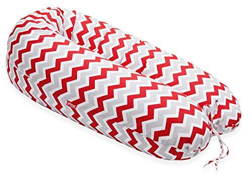 online store 327be 61dc4 Scamp universales Embarazo Cojín de lactancia, incluye funda con multitud  de diseño nuevo Zigzag Red