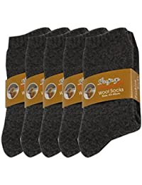 Pluto & Fox Calcetines Térmicas Gruesos Cálidos De Lana Para Hombre Color Liso Invierno Para Calentar