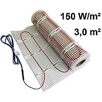 EXTHERM: Alfombra Calefactora de Cable Doble Twin Cable para Instalación en Suelos Radiantes de 150w/3m² - Calidez Cómoda en Todo su Hogar - Soluciones de Energía Renovable