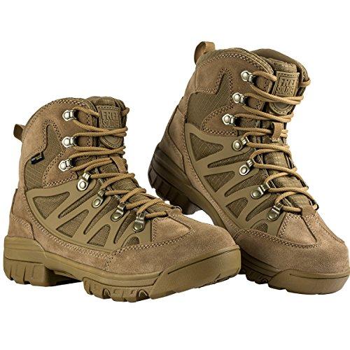 FREE SOLDIER Botas Tácticas para Hombre Mid High Rise Senderismo Zapatos Botas...