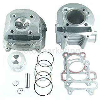 125cc CYLINDER HEAD PISTON KIT SET for ZNEN ZN125T-30 air 4T 125 cc