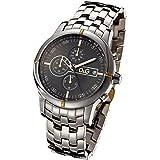 D&G Dolce&Gabbana Herren-Armbanduhr XL Chronograph Edelstahl beschichtet DW0480