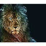 murando Papier peint intissé 200x140 cm Décoration Murale XXL Poster Tableaux Muraux Tapisserie Photo Trompe l'oeil animaux Lion g-A-0090-a-b