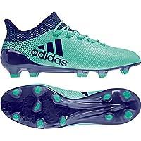 online store 3f157 d70eb adidas X 17.1 FG, Chaussures de Football Homme, BlancBleu ÃlectriqueGris